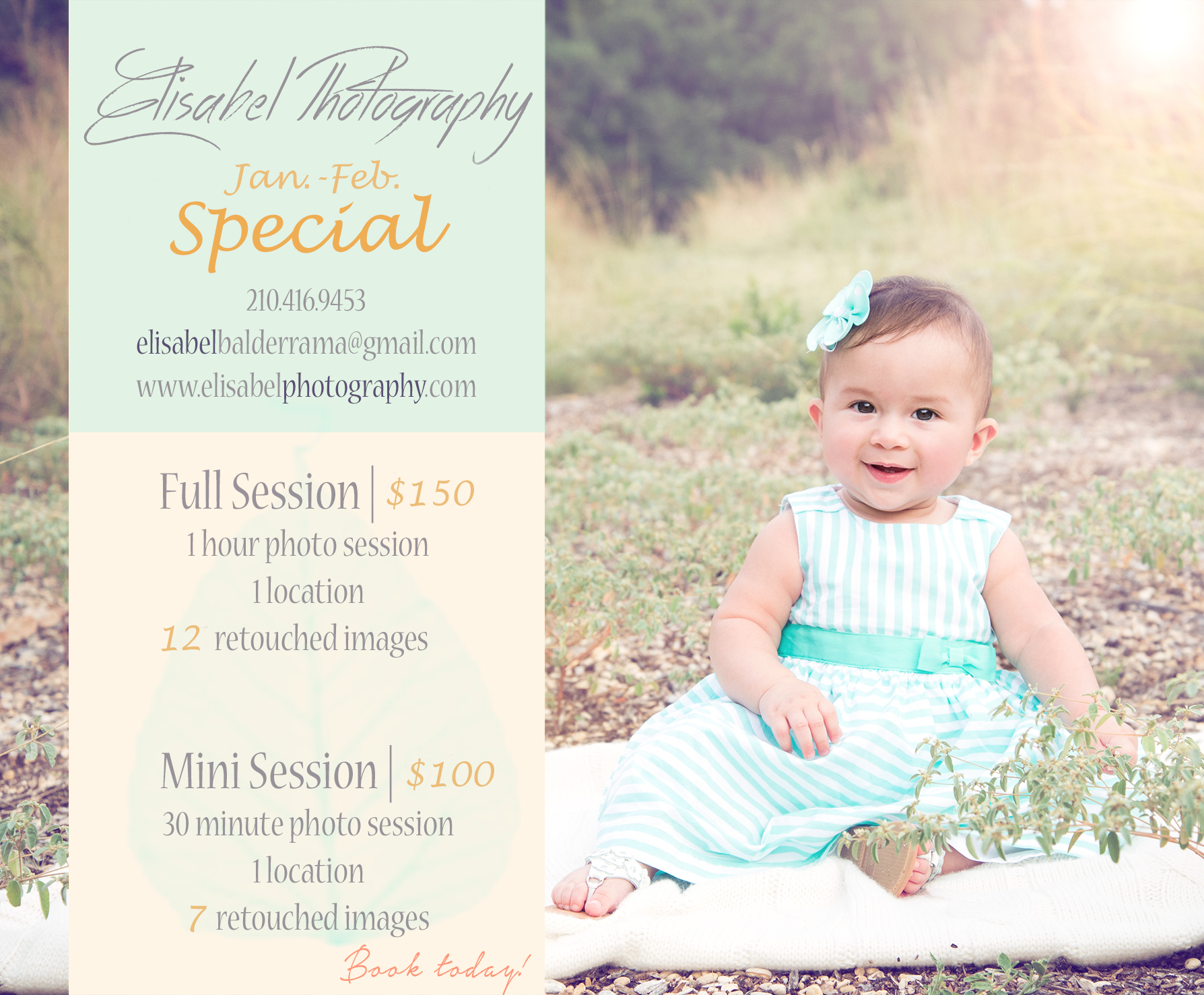 Prices packages and promotions elisabel photography