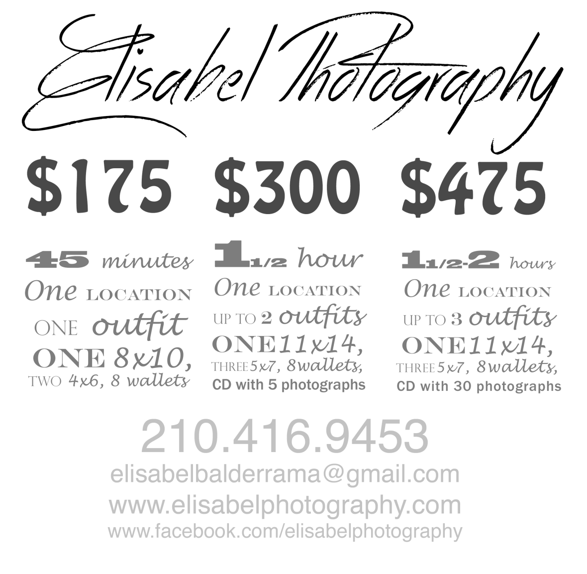 Portrait Pricing: Prices, Packages, And Promotions